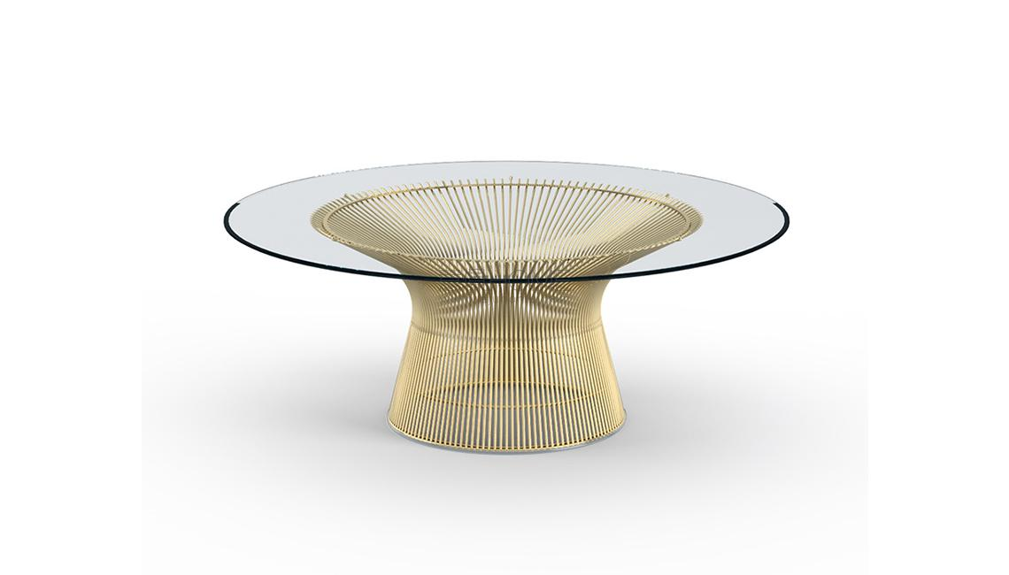Platner Coffee Table - 42 in Gold餐桌