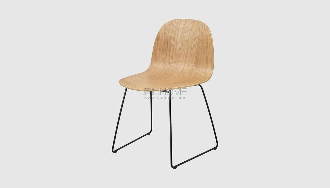 2D Dining Chair - Un-upholstered - Sledge base椅子