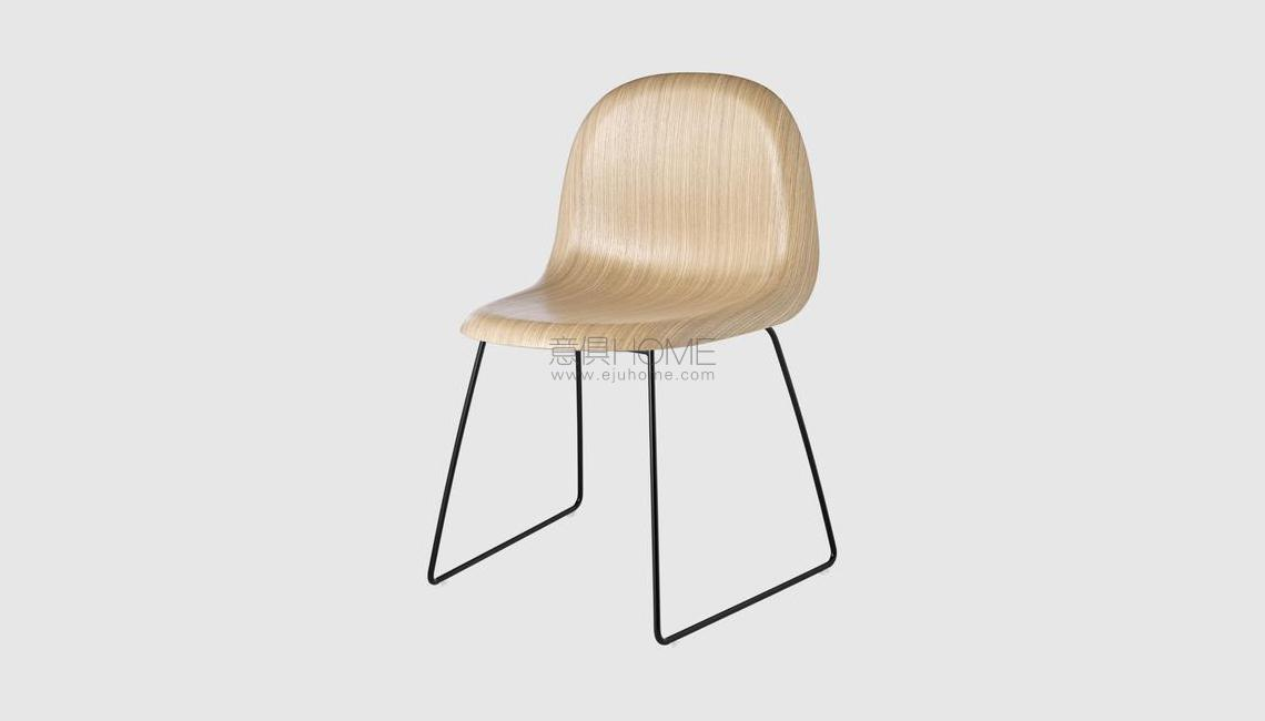 3D Dining Chair - Un-upholstered - Sledge base椅子