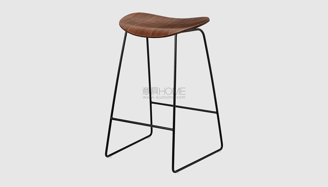 2D Counter Stool - Un-upholstered - 65 cm - Sledge base吧椅